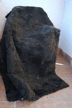 Genuine, Real Throw, blanket fur/ Bedspread Rug, Pelzdecke, Decke, Pelz