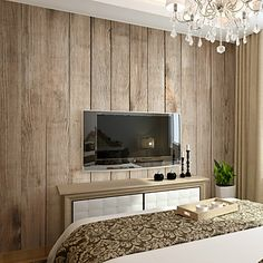JAMMORY Wallpaper For Home Wall Covering Canvas Adhesive required Mural Solid…