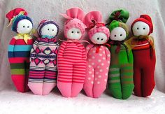 Dolls | Handmade with socks. | Nadide Korbey / Istanbul | Flickr