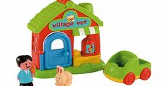 Early Learning Centre HappyLand Village Vet The ELC HappyLand Village Vet needs help with making all of the HappyLand animals better again. Your little one can tell stories with the friendly vet that will help develop imagination. This set incl http://www.comparestoreprices.co.uk/baby-toys/early-learning-centre-happyland-village-vet.asp