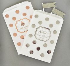 Personalized Metallic Foil Chevron & Dots Goodie by NspireDesign