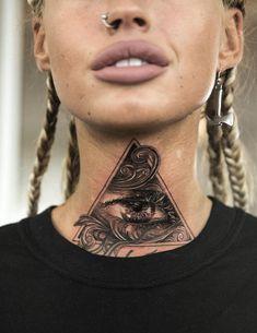 Illuminati Triangle Eye Tattoo