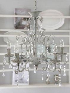 Kronleuchter Lüster Antik Shabby Landhaus Weiß Eisen Metall Lampe Vintage  Neu . | Chandelier  | Pinterest | Shabby, Chandeliers And Bedrooms