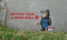 UK-based street artist 'JPS' uses witty puns in his stenciled works to get his message across