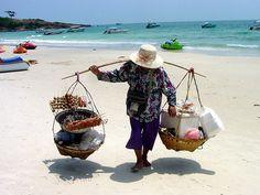 #Thai #Beach #Vendor #print