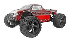 Want to get started in hobby grade RC but short on space? Meet the Volcano-18 1:18th scale RC vehicles. Small 1:18th scale size with big performance and fully waterproof! Try the Volcano 18 1/18th Scale Electric Monster Truck RED
