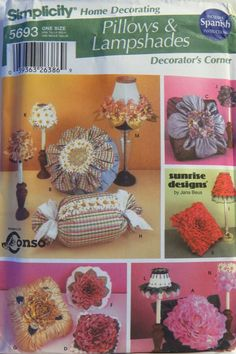 Simplicity 5693 Pillows and Lampshades