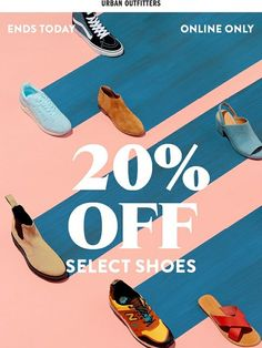 Ends Tomorrow: Off Shoes Urban Outfitters Email Newsletter Design - Sales Email - Ideas of Sales Email - Ends Tomorrow: Off Shoes Urban Outfitters Email Newsletter Design Web Design, Social Media Design, Dm Poster, Shoe Poster, Posters, Email Marketing Design, Email Design, Banners, Email Newsletter Design