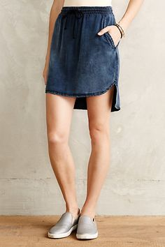 High-Low Chambray Skirt - anthropologie.com #anthrofave