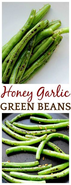 I am never eating green beans any other way! Who knew honey and garlic would make this somewhat plain vegetable taste amazing! Seriously, if you're looking for the perfect green bean recipe - one even your kids will eat - look no further! Just delicious! Best Side Dishes, Healthy Side Dishes, Vegetable Sides, Vegetable Side Dishes, Side Dish Recipes, Vegetable Recipes, Vegetarian Recipes, Cooking Recipes, Healthy Recipes
