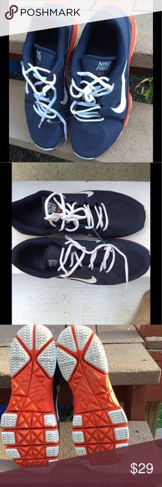 Men sneakers Nike 5.0 size USA 11 Sneakers Nike 5.0 men size11 used one time. Excellent condition. Blue and Orange Nike Shoes Athletic Shoes