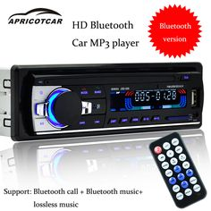 Modern car MP3 Bluetooth music player phone hands-free phone car USB multi-function charger card radio time electronic watch new
