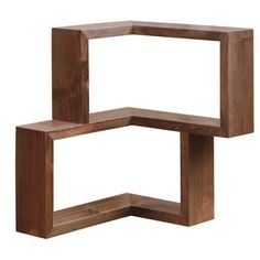 Franklin Shelf Walnut, $299, now featured on Fab. Great idea for those with limited space and lots of corners!