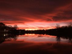 "Sam Calhoun on Instagram: ""An absolutely amazing sunset tonight in this Christmas Eve... Lady Ann Lake, Huntsville, AL.  #explore #getoutstayout  #optoutside…"""