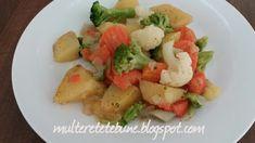 RETETE: Legume la cuptor Potato Salad, Potatoes, Ethnic Recipes, Food, Potato, Essen, Meals, Yemek, Eten
