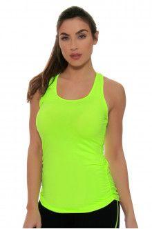 Workout Wear l New Balance Lime Glo Workout Top : WT63102