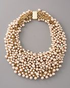 Fragments for Neiman Marcus Pearl & Rhinestone Shag Necklace (comes in white and silver, too)