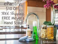 Today I am sharing about a brand new (to me) online company where you can get your household products (natural brands like Mrs. Meyers, Toms, & Seventh Generation) at a discount!! Also, if you sign up through The Better Mom you will receive $10 off, free shipping and a FREE Mrs. Meyer's Handsoap!!!