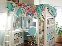 How cool is this for a young girls room!
