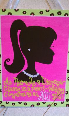 Logo/Sorority Canvas Paintings. $20.00, via Etsy.