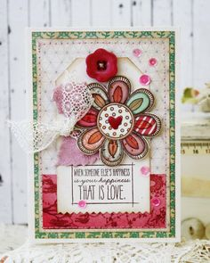 That is LoveHandmade Card by lilybeanpaperie on Etsy; sketch and use of pattern