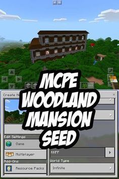 Minecraft PE Woodland Mansion ~700 blocks from spawn at 376 y 552 - SEED:KKFF