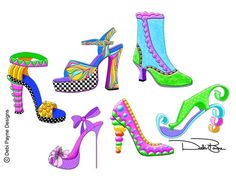 "New Shoes - ""Sassy Shoes Collection"" - by Debi Payne Designs"