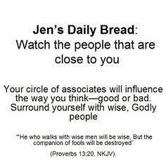 Watch the company you keep...