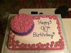 90th Birthday Cake - One of our weekend adventures! Soooo much fun!