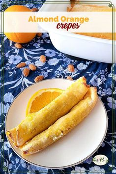 Buttery Almond Orange Crepes are an easy make ahead dessert that is sure to impress your family or guests. #dessertcrepes #springsweetsweek #orangecrepes #creperecipe Make Ahead Desserts, Holiday Desserts, Easy Desserts, Delicious Desserts, Yummy Food, Brunch Recipes, Sweet Recipes, Breakfast Recipes, Dessert Recipes