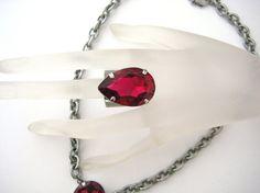 Swarovski Crystal Ruby Big and Bold Pear Cigar by zoeJaneJewels1