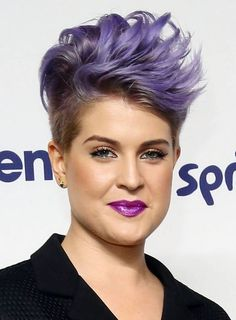 Celebrity Hairstyles for Short Hair Kelly Osbourne Short Shaved Haircut