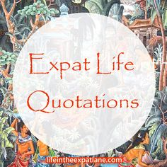 Humorous quotations about living the expat life and traveling abroad. May you be inspired.