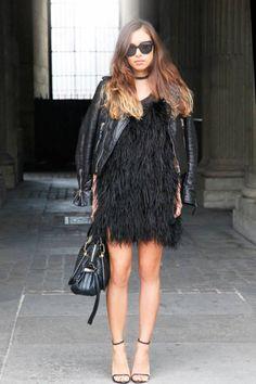 Zigzag Print Paris Street Style - Paris Fashion Week Spring 2013 Style - ELLE