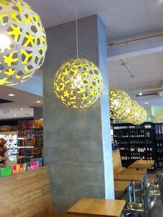 David Trubridge Corals In Yellow/Natural @ Cafe Olympia In #NewYork