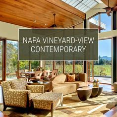 Scottsdale's Susie Hersker Design did justice to this Napa home's gorgeous vineyard views by giving it an autumn palette and using natural, luxe materials like onyx and warm woods. See the video. Luxury Interior Design, Luxury Home Decor, Bathroom Interior Design, Interior Design Services, Napa Vineyards, Modern House Design, Home Renovation, Custom Design, Furniture Design