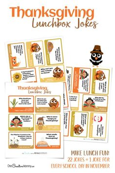 Super Silly Thanksgiving Lunchbox Jokes | Etsy - My kids love getting these jokes in their lunches. I love sending them a smile from home. #thanksgiving #lunchboxlovenotes #lunchboxjokes #schoollunch Thanksgiving Puns, Thanksgiving Activities, Lunch Table, Lunch Box, Traditional Thanksgiving Dinner, Walmart Photos, Holiday Dinner, Holiday Ideas, Party Guests