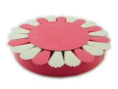 Torta bomboniera 22 fette colori assortiti confezionatura fai da te.