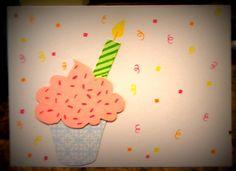 Cupcake Birthday Card by LifesAcanvas on Etsy, $4.00