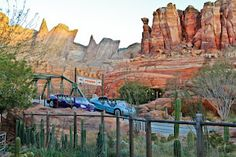 Radiator Springs Racers.  There aren't enough words to express how AMAZING this ride is.  It combines the most incredible technological components into a classic Disney dark ride setting, and then throws you into a thrilling zoom through Ornament Valley.