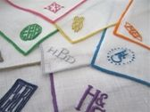monogrammed cocktail napkins - great hostess gift