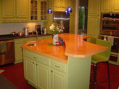 Great Looks Like A Florida Gator Kitchen To Me. Orange KitchenKitchen Counters CountertopConcrete ...