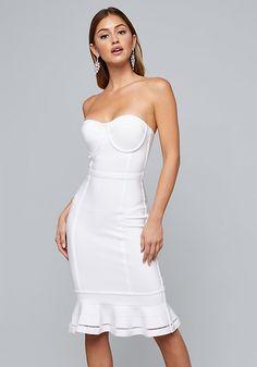 d205c1a6d54c Bustier Bandage Dress - Little White Dresses