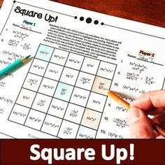 Simplifying Expressions, Fulton, Math Games, Packing, Student, Activities, Education, School, Bag Packaging