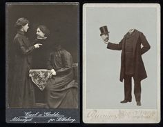 """Long before Photoshop, Victorian photographers combined images from multiple negatives to create portraits known as """"Headless Photographs."""" [Link]"""