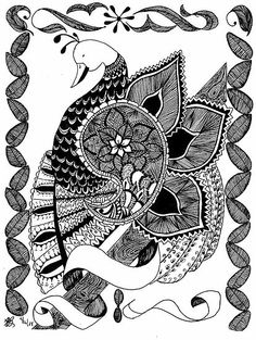 I've been doing zentangles since the 70s long before anyone came up with a name . It is so relaxing