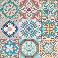 Tienda online de artículos de decoración. Desde Chile con amor | CASA Tile Art, Mosaic Tiles, Wall Tiles, Tiling, Textile Patterns, Print Patterns, Art Chinois, Traditional Tile, Art Japonais