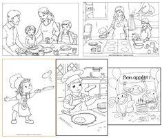 La Chandeleur : activités et coloriages sur les crêpes