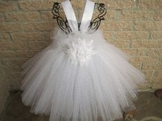 Tutu Dress ICY WINTER WHITE Stretch Bodice White by ElsaSieron, $74.00