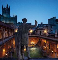 The Roman Baths by Torchlight